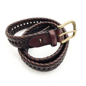 Tommy Hilfiger Mens Brown Braided Belt 40